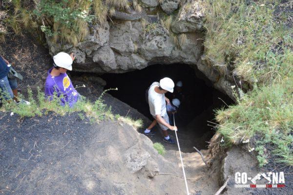 tunnel de lave Etna