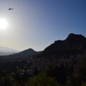 Etna en hélicoptère
