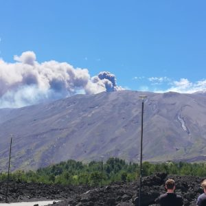 eruption de l'Etna au 30 Mai